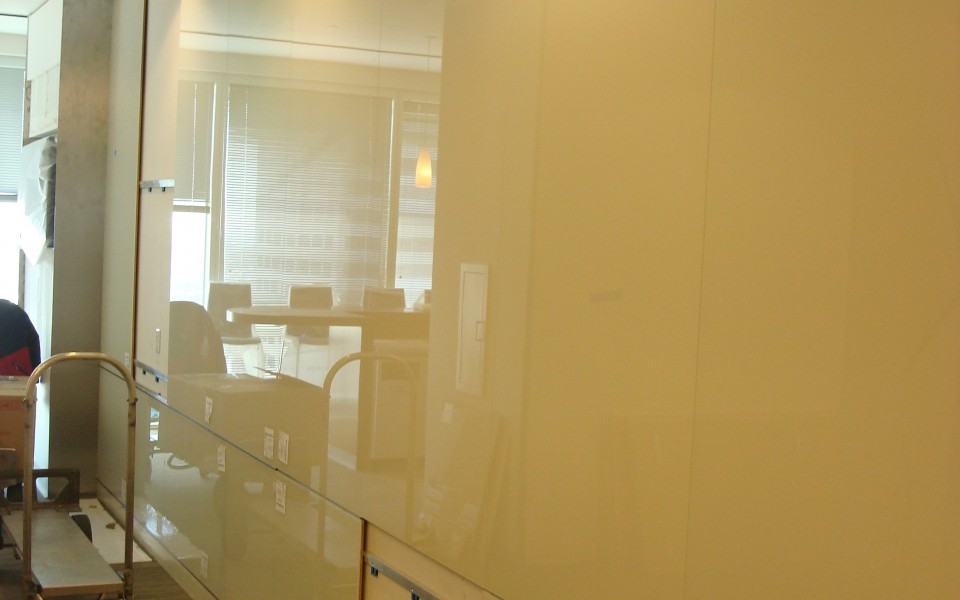 ... Custom Back-Painted Low-Iron Glass Panels by Goldray Industries