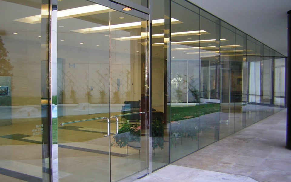Glass doors wall systems Glass wall door systems